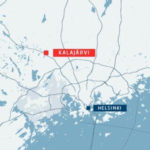 Kartta. Kalajärven terveyskeskuksessa paloi maanantaina.