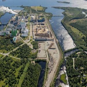 Metsä Groupin Kemin biotuotetehtaan ensimmäinen havainnekuva, huhtikuu 2019.