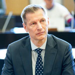 Ilmavoimien entinen komentaja Sampo Eskelinen Helsingin hovioikeudessa 6. toukokuuta 2019.