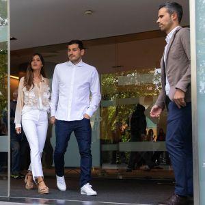 Iker Casillas ja hänen vaimonsa Sara Carbonero