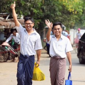 Toimittajat Wa Lone ja Kyaw Soe Oo