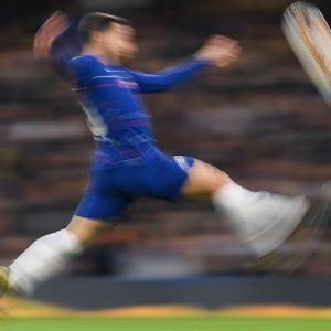 Eden Hazard juhlii Chelsean voittoa.