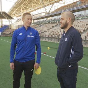 Mikael Forssell ja Teemu Pukki.