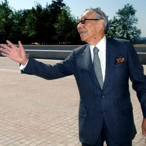 Yhdysvalloissa elämäntyönsä tehnyt arkkitehti Ieoh Ming Pei (1917–2019).