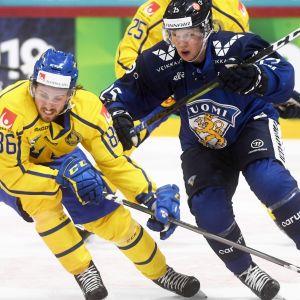 Suomi (Toni Rajala) ja Ruotsi EHT:llä