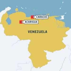 Acarigua Venezuelan kartalla.