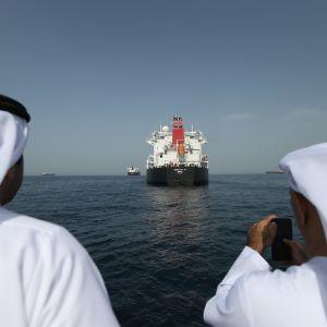 Norjalaisalus MV Andrea Victory oli vahingoitettujen alusten joukossa.