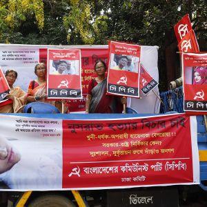 Mielenosoitus Dhakassa 20. huhtikuuta.