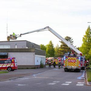 Palokunta palopaikalla