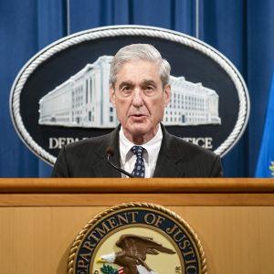 Robert Mueller tiedotustilaisuudessaan Washingtonissa.