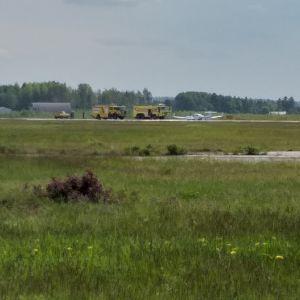 Pienkone mahalasku lento-onnettomuus Porin lentokenttä