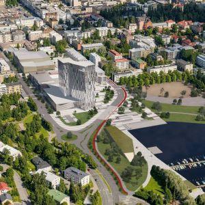 Havainnekuva Kuopionlahdelta.