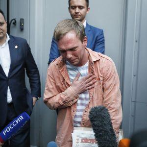 Venäläinen tutkiva toimittaja Ivan Golunov on vapautettu.