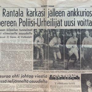 HS:n lehtileike vuoden 1964 Jukolan voittajista