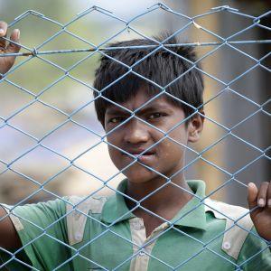 Rohingyapoika Cox's Bazarissa, Bangladeshissä.
