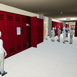 Kuvaa Bullied VR-pelistä.