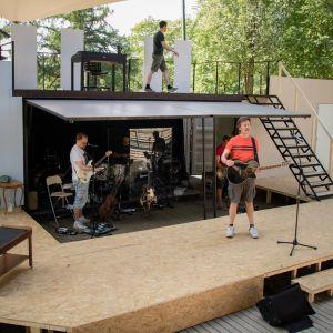 Lappeenrannan kesätatterin Kari Tapio -näytelmän harjoitukset