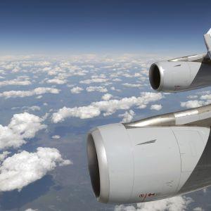 Lufthansan lentokoneen ilmassa.