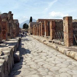 Katunäkymä Italian Pompejista.