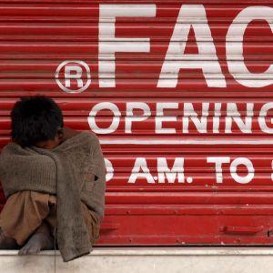 Lapsi Kathmandun kaduilla