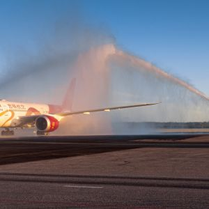 Juneayao Airlines Helsinki-Vantaalla ensilento