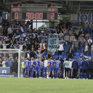 Stadin derby päättyi heinäkuussa 2019 HJK:n juhliin.