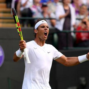 Rafael Nadal Wimbledonissa 2019.