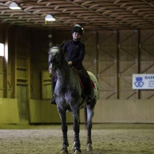 Elina Kemppainen ja hevosensa Luce del Fuoco