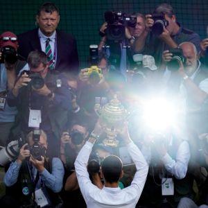 Novak Djokovic ja Wimbledonin pokaali