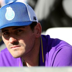 MAY 25: Porto's Spanish goalkeeper Iker Casillas during the Portugal Cup Final football match Sporting CP vs FC Porto at Jamor stadium, on May 25, 2019, in Oeiras, outskirts of Lisbon, Portugal.