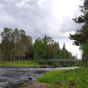 Vaattunkiköngäs luonto matkailu luontomatkailu ekomatkailu retkeily koski joki Raudanjoki