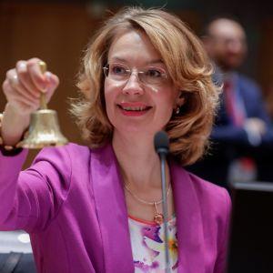 Eurooppaministeri Tytti Tuppurainen (sd.) avasi ministerikokouksen Brysselissä torstaina.