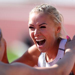 Annimari Korte on parantanut kesän aikana ennätystään jo 42 sadasosaa. Keskiviikkona hän juoksi uudeksi Suomen ennätykseksi 12,72.