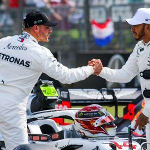 Valtteri Bottas ja Lewis Hamilton, Mercedes.