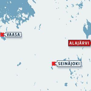 Kartta Alajärven sijainnista