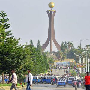 Katunäkymä Etiopian Mekelessä.