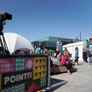 Pointti-kaupunkifestivaali Helsingissä.