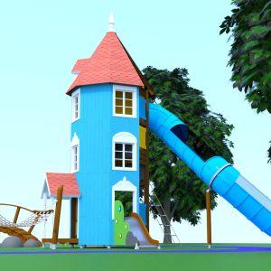 Havainnekuva Lappset Groupin Muumitalon piha -leikkipaikka