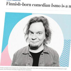Kuvakaappaus Ismo Leikolaa käsittelevästä Washington Postin jutusta.