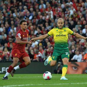 Teemu Pukki Liverpool-ottelussa
