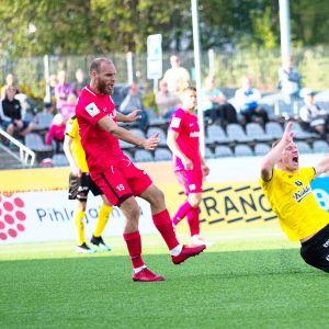 KuPS voitti FC Interin kotikentällään 2-0 Kuopiossa.