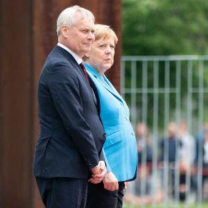 Antti Rinne ja Angela Merkel tapasivat Berliinissä 10. heinäkuuta.