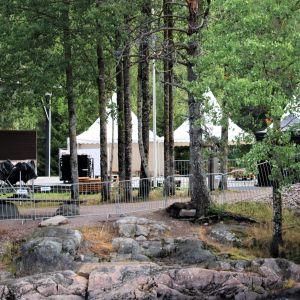Koiteli elää festivaalin aluetta Kiimingin Koitelinkoskella ennen vuoden 29019 festivaaleja.