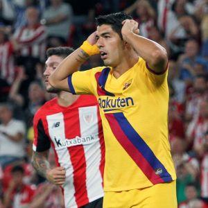 Barcelonan Luis Suarez loukkaantui Athletic Bilbao-ottelussa