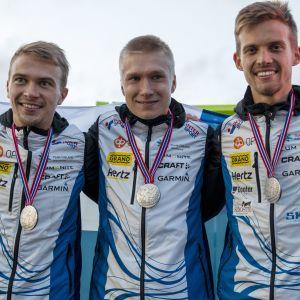 Miika Kirmula, Elias Kuukka ja Aleksi Niemi, MM-kisat 2019 Norjassa, viestihopea