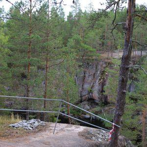 Paikka, johon uusi silta tulee Lapinsalmelle.