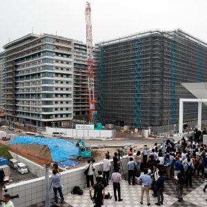 Tokion olympiakylä rakennusvaiheessa heinäkuussa 2019.