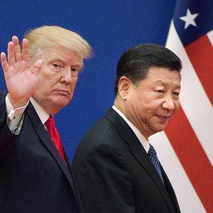 Yhdysvaltain presidentti Donald Trump ja Kiinan presidentti Xi Jinping kuvattuna Pekingissä marraskuussa vuonna 2017.