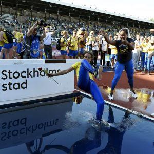 Ruotsin juhlat Tukholman maaotteluissa