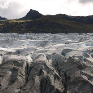 svinafellsjokull- jäätikkö Islannissa.